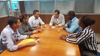 Os Vereadores: José Duarte, Antônia Ferreira e Marceli da Silva participam de uma reunião em Porto Velho na SEAGRI.